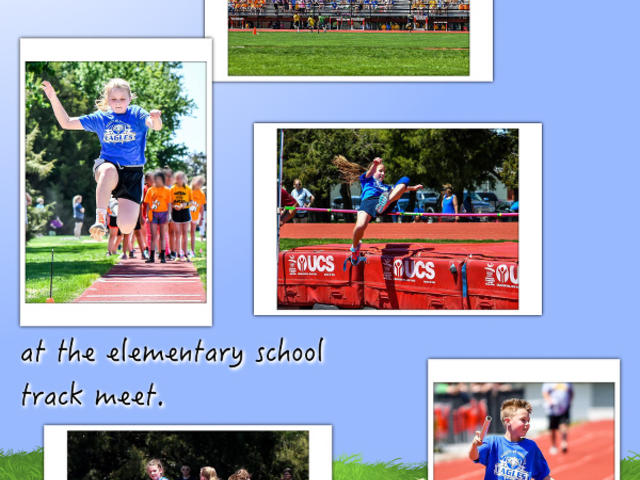 The 4th and 5th Graders go to the Track Meet - May 2017 image