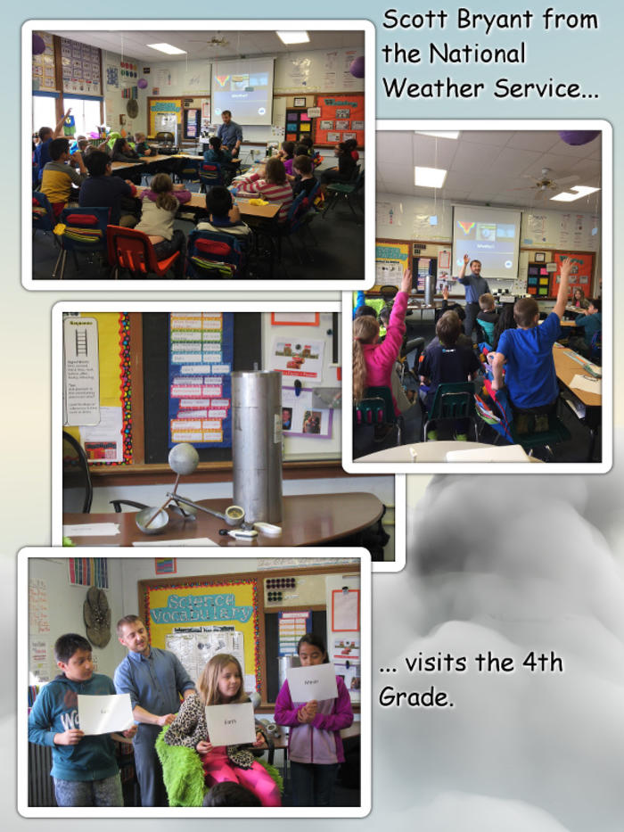 Scott Bryant from the NWS Visits the 4th Grade - April 2017 image