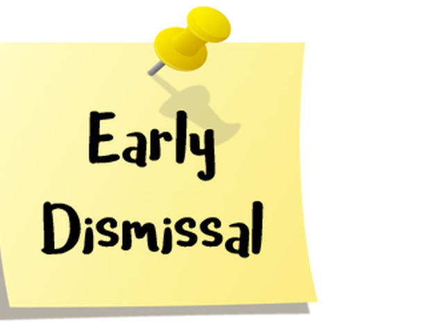 PreK-5 Early Dismissal, May 16