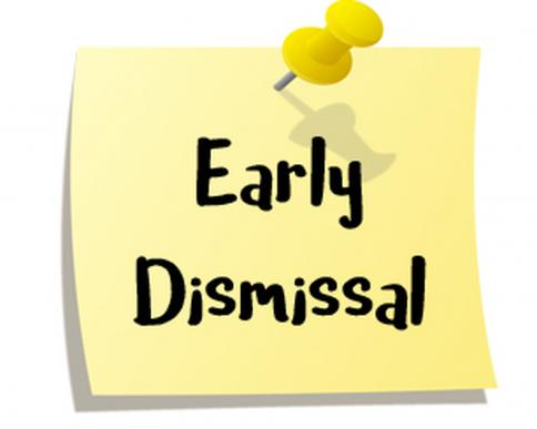 PreK-5 Early Dismissal, May 21