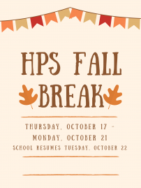 Fall Break, October 17 -21 image