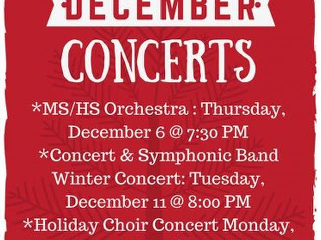 HHS December Music Concerts image