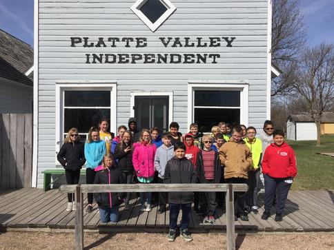 5th Graders visiting Stuhr Museum in the Spring