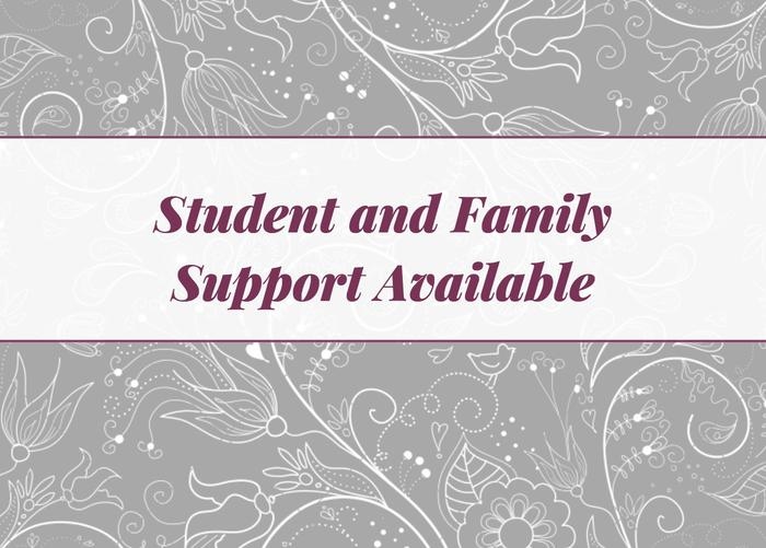 Student and Family Support Available image