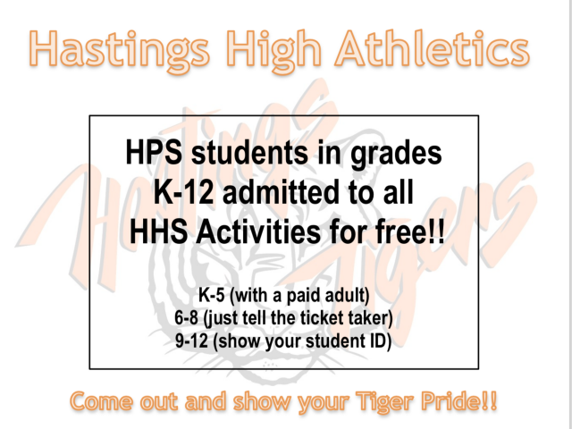 HPS Students Get Free Admittance To HHS Activities! image