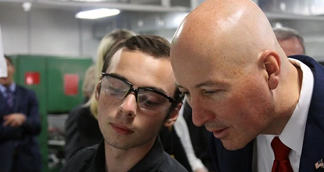 Gov. Ricketts Tours Senior High Skills & Tech Science image