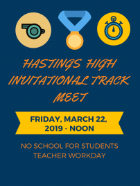 HHS Invitational Track Meet - Friday, March 22 image