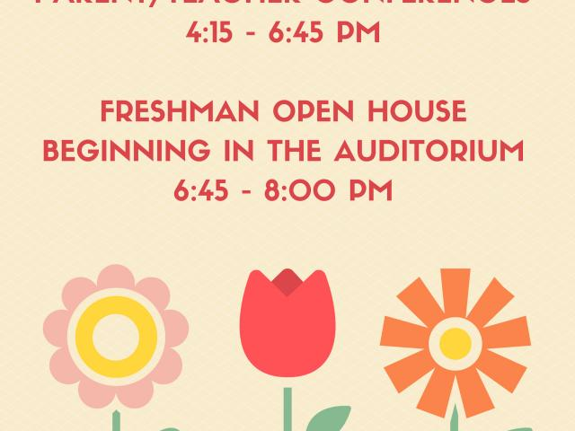 Parent/Teacher Conferences + Freshman Open House image