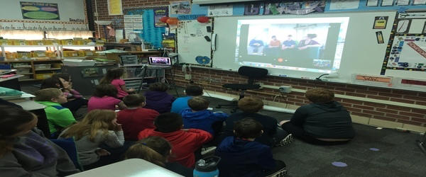 5th Grade talks with four scientists in New Hampshire image