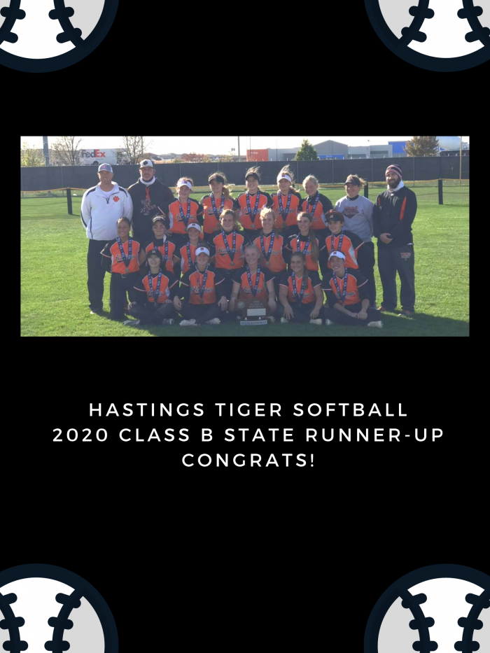 Hastings Tiger Softball Class B State Runner-Up! image