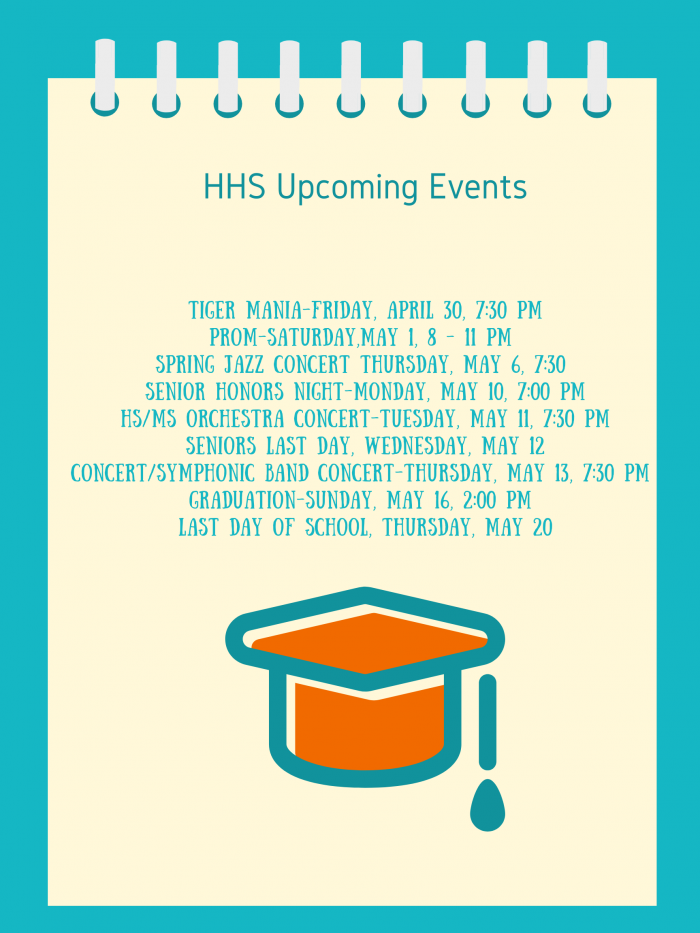 HHS Upcoming Events 2021 image