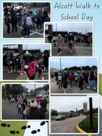 Alcott Walk to School Day - October 2018 image