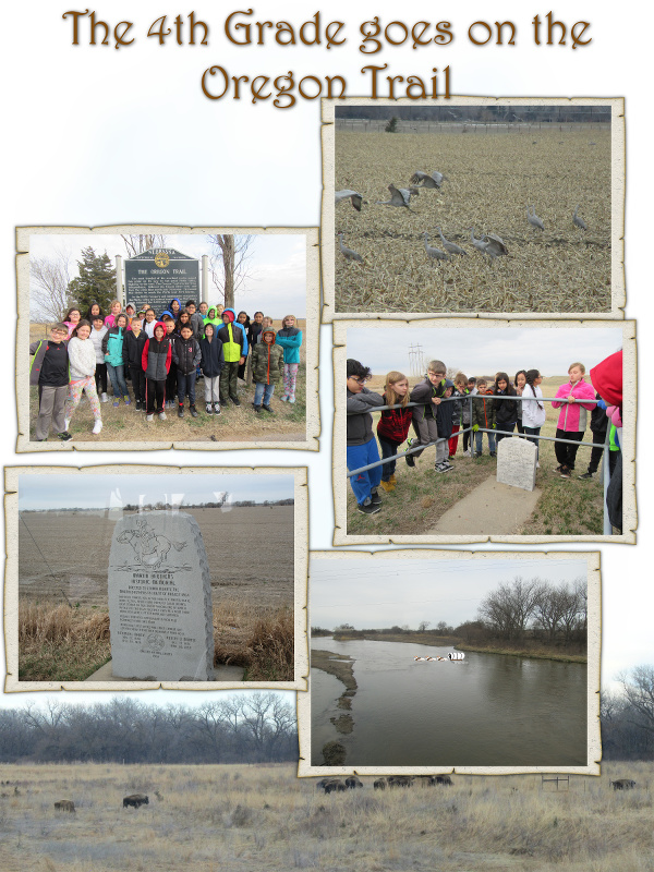The 4th Grade Goes on the Oregon Trail - March 2017 image