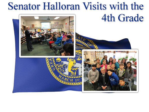 Senator Halloran Visits the 4th Grade image
