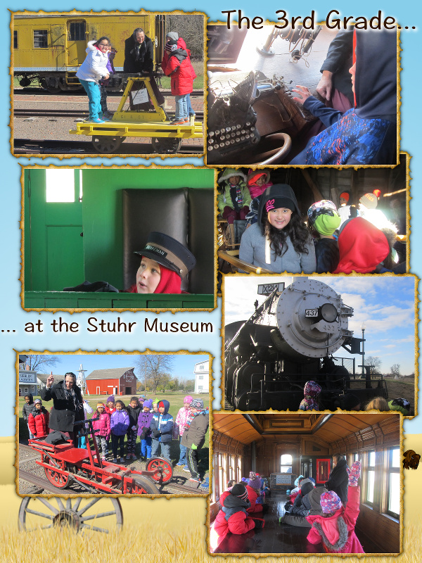 The 3rd Grade Goes to the Stuhr Museum - October 2017